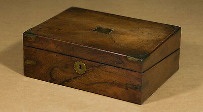 Victorian Figured Walnut and Brass Writing Slope