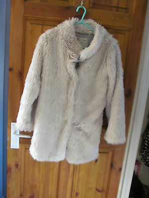 girls faux fur coat age 11/12 from next vgc