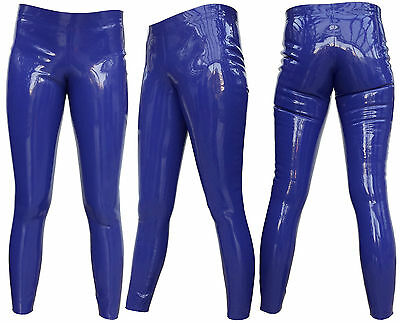 Latex Leggings / Rubber Pants / Gummihose / Hose / Latexhose Gr. M/L - Fa.blau