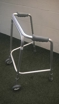 lightweight zimmer frame walking frame with wheels free postage