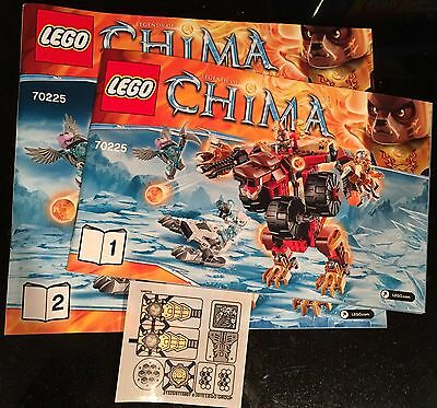 LEGO Chima 70225 Bladvic's Rumble Bear INSTRUCTIONS & STICKERS only NEW
