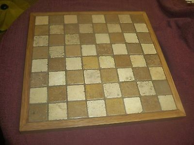 Large Hand made Chess Board  45cm x 45cm.