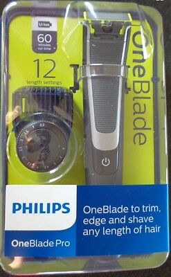 Philips One Blade Pro  Hybrid Trimmer & Shaver - 12 Length Comb Qp6510 *new*