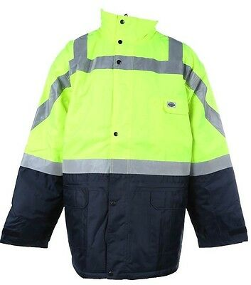 Outdoor World Hi Vis All Weather Jacket - Size 4Xl - 3M Tape - Rain Coat - Work