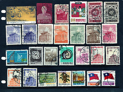 TAIWAN 27 STAMPS FROM 1953 GOOD USED / UNUSED AS ISSUED :  See Scan