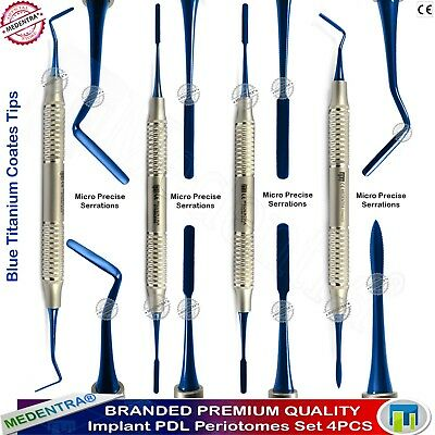 Dental Periotome Composite Filling instruments Scaler Titanium Coating Set Of 4
