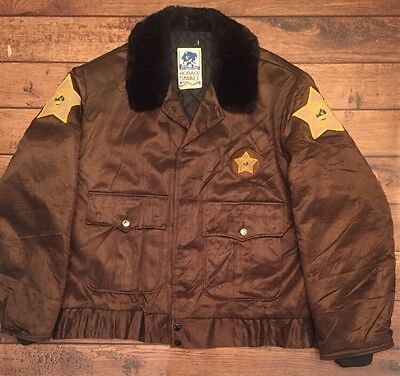 Harrison Indiana Sheriff Dept. Vintage Horace Small Police Tuffy Jacket 70's 42R