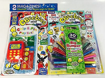 CBeebies Magazine X2 Gift Issues - AMAZING GIFTS! (BIG BUMPER ISSUES!)