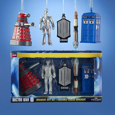 "Doctor Who 5 Piece Christmas Ornament Gift Set 2.25"" $14.99"