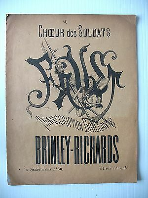 PARTITION FAUST CHOEUR DES SOLDATS brinley richards