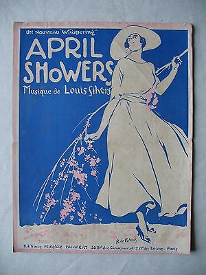 PARTITION APRIL SHOWERS illust. de VALERIO  de Louis SILVERS 1921