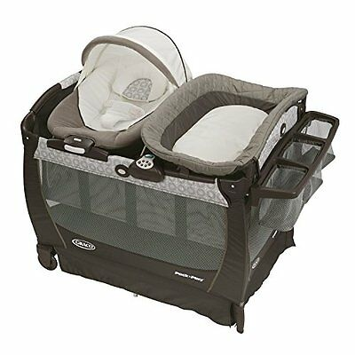 Graco Pack ''n Play Playard Bassinet Changer Snuggle Suite LX Baby Bouncer,