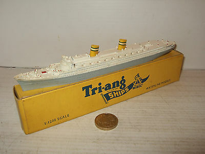 Vintage Rare Tri-ang Minic Waterline Ships M706 SS Nieuw Amsterdam 1:1200 Scale