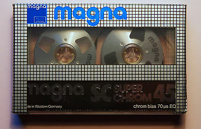 1x MAGNA SC Super Chrom 45 - Reel To Reel Cassette Tape + NEW & SEALED +