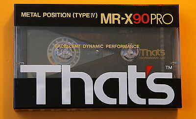 1x THAT'S MR-X PRO 90 Metal Cassette Tape + NEW & SEALED +