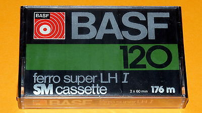 1x BASF ferro super LH I 120 SM Cassette Tape 1977 + MADE IN GERMANY + SEALED +