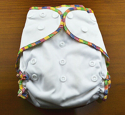 White Baby Cloth Nappy Top Quality Modern Cloth Nappies With Free Liners