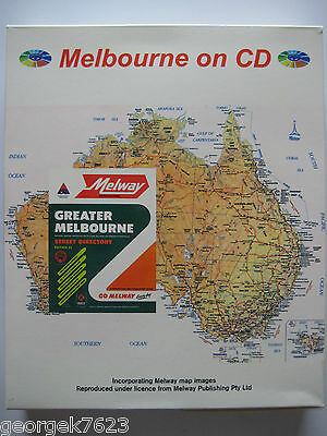 Melway - Melbourne on CD street directory - edition 24 - 1997