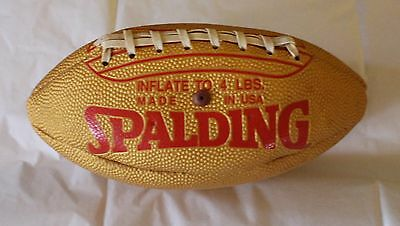 Vintage Gold and Red Spalding Football