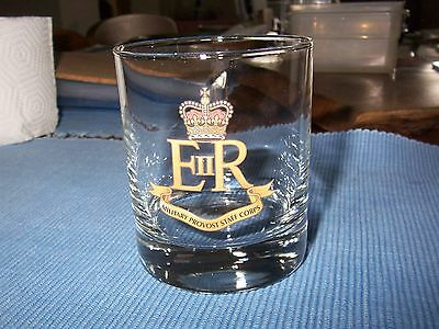 Military Provost Staff Corps - Glass Tumbler - Excellent, Unblemished Condition.