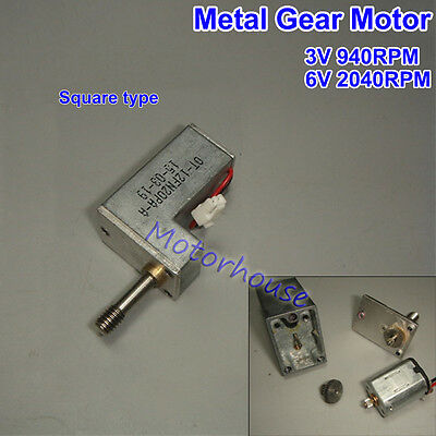 DC 3V Mini Full Metal Gearbox Gear Reducer Motor Square N20 Motor for Robot Car