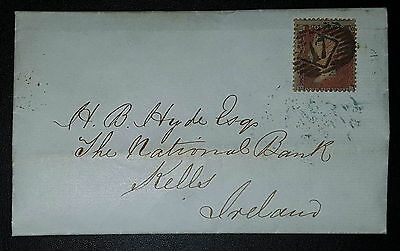 GB QV COVER-LETTER 1857 1d red Perf.14 (No1943)