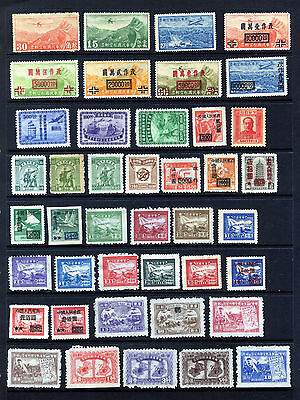 CHINA/ EAST CHINA 1932– 49 COLLECTION OF 42 STAMPS MINT & UNUSED AS ISSUED: Scan