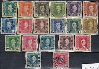 Austria 1917 KUK Feldpost short set to 2K Mint