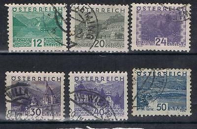 Austria 1932  Views selection SG 678 on Used