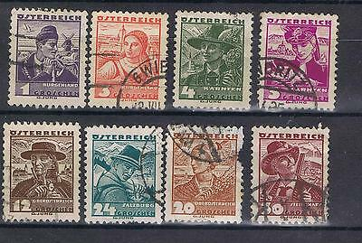 Austria 1934 Costumes selection SG 716 on Used