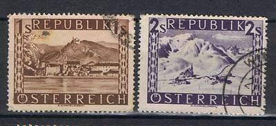 Austria 1945 Views 1 sch, 2 sch SG 952-53 Used