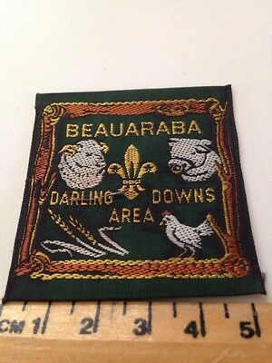 Vintage Beauaraba Darling Downs Area Scout Badge