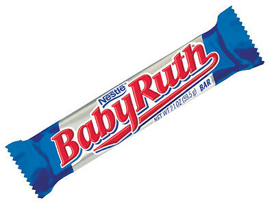 Baby Ruth Kids Favorite Tasty Chocolate Candy - Brand New From USA 1 x Bar