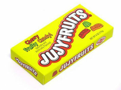 Jujyfruits Theatre Size Box - US Version  Chewy Fruity Shaped Candy