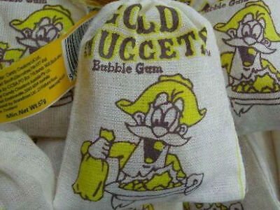 Gold Nugget Bubblegum - Fabric Bag Filled with Packet of Bubblegum 1 x Bag