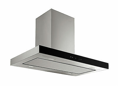 MILLAR Millar KH901V-SI 90cm Stainless Steel Island Kitchen Cook Extractor Hood