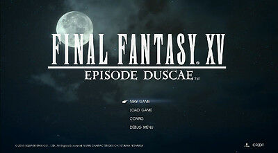 Final Fantasy 15 episode duscae dlc code for Xbox one