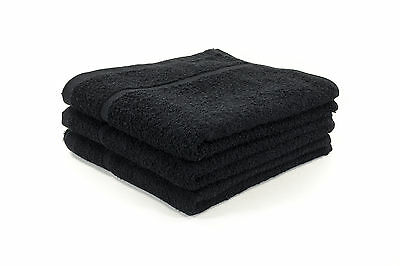 72 X Black Hairdressing / Hair Towels / Barber / Salon Towels 400Gsm 50 X 85Cm