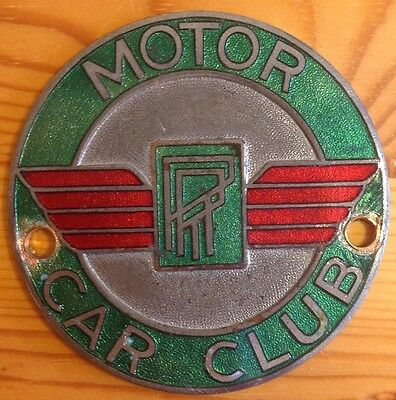 RR Motor Car Club Badge c1930