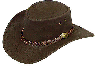 Kids/ Children  leather hat 52 cm    SPORT UV PROTECTION Australian made