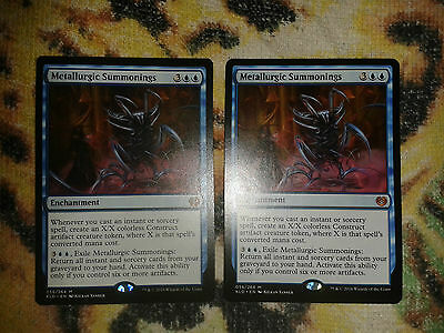 2x Metallurgic Summonings Mythic (Kaladesh) Magic The Gathering MTG