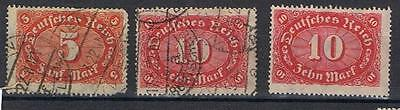 Germany 1921 selection SG 193 Used, SG 170 Used and Mint no gum