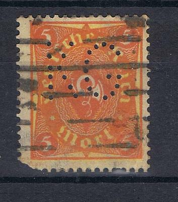 Germany 1921 5p orange SG 208 Perfin KG Used