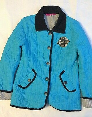 Girls Stylish Pineapple Blue Jacket Top age 8-9 134cms V Good Condition