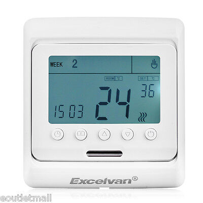 Electric Underfloor Heating Programmable Thermostat Room Temperature Controller