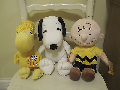 Charlie Brown Snoopy Woodstock plush Kohls Cares set of 3 new with tags