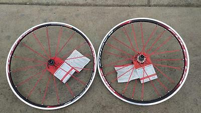 Fulcrum Racing Zero tubular 10 speed shimano hub red spokes special edition