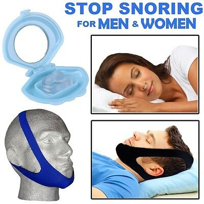 NEW Stop Snoring Help Anti Snore Aid Sleep Relief Apnea Night Sleeping Device UK