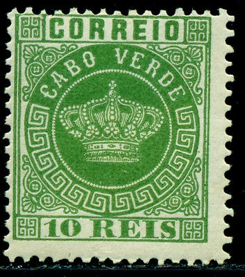 1881 Royal Crown,Definitives,Cabo Cape Verde,Mi.10A,10R,perf.12.5,MH