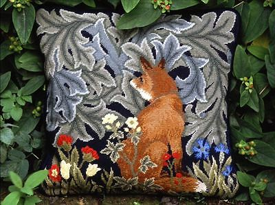Beth Russell Tapestry Needlepoint Chart Pattern FOX CUSHION William Morris